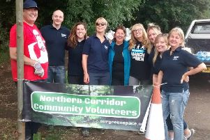 The Northern Corridor Community Volunteers worked hard throughout July