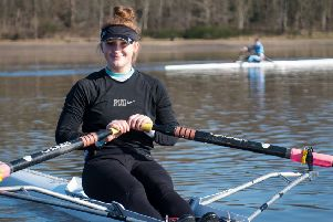 Lenzie rower Perri McCluskey has taken quickly to her new sport (pic by Rob Eyton-Jones)