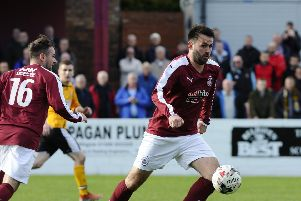 Tommy Coyne hit a hat-trick for Linlithgow Rose against Craigroyston