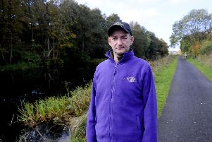 Douglas Wilson discovered the dead dog in the Forth and Clyde Canal. Picture: Michael Gillen