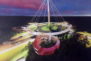An artist's impression of the proposed aerial walkway