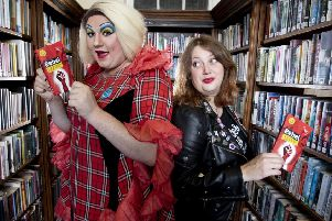 Rebellious move...Nancy Clench and author Claire Askew enjoy a sneak peek of the Rebel anthology, ahead of its launch for Book Week Scotland this year.