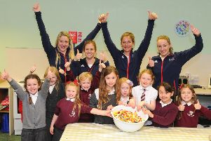 Pupils in Comely Park Primary win a visit from Curling champions Team Muirhead