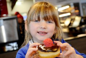 VIP guest Layla Ritchie enjoys some tasty Tim Hortons treats
