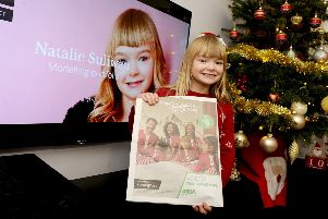 Child model Natalie features in Asda's Christmas advertising campaign