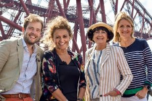 Showbiz pals Nadia Sawalha and Kaye Adams go antiques-hunting with Tim Medhurst and Anita Manning in Falkirk and other parts of Scotland