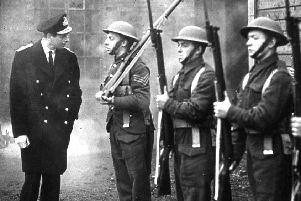 The Duke of Kent pictured inspecting Grangemouth Home Guard