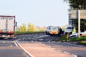 The scene of a previous crash at the A906 near Champany which would ultimately claim three lives last year.