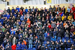 Falkirk fans at Saturday's win over Queen of the South (Pictures by Michael Gillen)