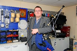 Piping tutor Gary Nimmo at ABS Piping School (Falkirk).