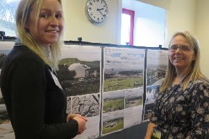 Ally Campbell of Montagu Evans, the planning consultants, and Susan Arbuckle of the council's estates team at the Midlothian Snowsports Centre consultation event at Hillend.