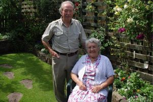 Cecil is pictured with his wife Margaret