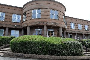Three men appeared at Falkirk Sheriff Court this week charged with being in possession of offensive weapons and controlled drugs