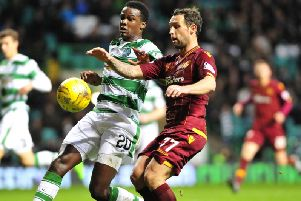 Action from Motherwell's visit to Celtic Park in 2015