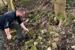 Just another pile of old bricks - or something more interesting?  Jamie Biddulph is on the trail of Falkirk's secret wartime bunkers.