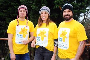 (Left to right) Ryan Scobbie, Petra McMillan and Andy Caulfield will launch an assault on Mount Everest to fundraise for Marie Curie. Picture: Michael Gillen