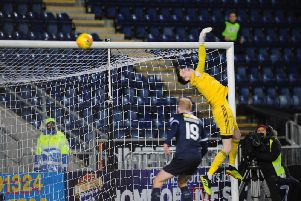 The defender's cross looped into the net. Picture: Michael Gillen.