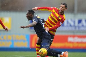 Ex-Thistle captain Abdul Osman faced his former club again.  Picture: Michael Gillen