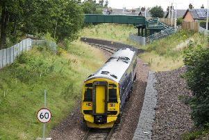 A train bound for Edinburgh Waverley pulls out off Newtongrange Station.  Photo: Ian Rutherford