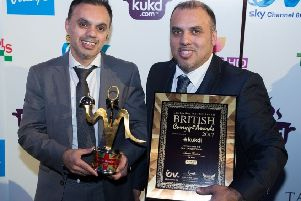 Flashback to the Sanam's triumph as Best Indian Restaurant in Scotland at the British Curry Awards in 2017.