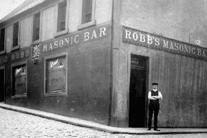 Public house was formerly the first Masonic Lodge in Falkirk.