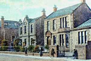 The first Falkirk Infirmary in Thornhill Road