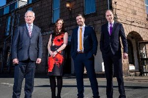 Left to right - Gordon Ritchie, Naomi Mearns, Scott Rennie and Keith Allan