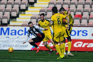 Falkirk won for the second time this season at East End Park. Picture - Michael Gillen