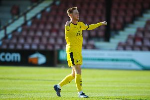 Davis Keillor-Dunn has given the Bairns cause for celebration with some key goals, but it's also cost him his place in the team. Pictures: Michael Gillen.