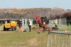Work has started on the Links