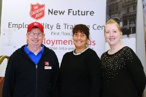 Helping deliver a New Future...tutor James Fotheringham, project co-ordinator Kerry Smart and learning and employability adviser Vikki Thomson. (Pic: Michael Gillen)