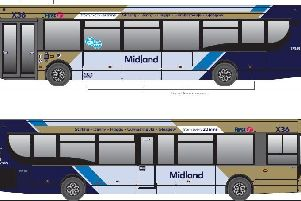 The new look First Midland bus livery