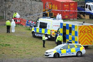 Emergency services at the scene. Picture: Michael Gillen