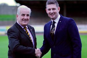 Johnny Harvey (right) after being appointed