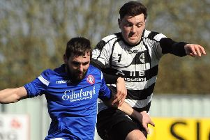 Steven Brisbane in action against Spartans earlier this season. Pic by Alan Murray.