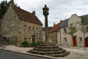 Airth's historic Mercat Cross.