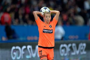 Nicola Docherty has already played in France - with Glasgow City in the Champions League (versus Paris Saint-Germain PSG). She will do so again.  (Photo by Aurelien Meunier/Getty Images)