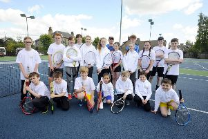 Falkirk tennis Club's Junior ranks have never been better. Picture: Alan Murray