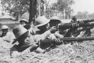 Tough fighters like Major Yorkston's Punjabis and the elite Gurkha rifleman pictured here were crucial elements of the army that destroyed the Japanese forces intent on invading India.