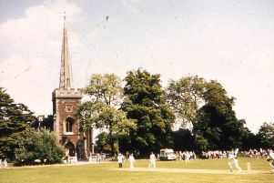 Cricket on the green in the quiet village of Frenchay - whose churchyard is the last resting place of a brave Falkirk officer.