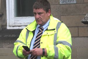Brian Mulgrew outside Stirling Sheriff Court (PICTURE: CENTRAL SCOTLAND NEWS AGENCY)