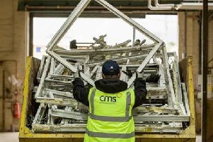 In-house recycling facilities at CMS Window Systems play a key role in the company's ability to divert 100 per cent of waste away from landfill.