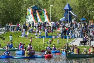Kayaks and canoes will be among the many different craft on show at the Canal Carnival tomorrow.