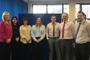 The Grangemouth based Connect Scotland team.