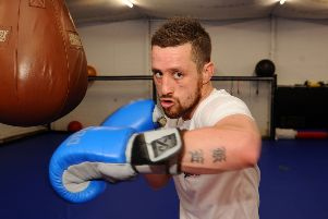 Kevin Traynor 'The Denny Warrior' has first pro boxing fight in Livingston next month. Picture - Michael Gillen.