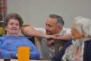 Balhousie's hospitality services chief, David Blackwood, consults residents on new menus.