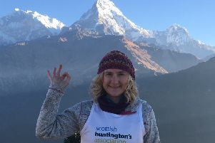 Marie Short MBE, pictured during one of her fundraising ventures.