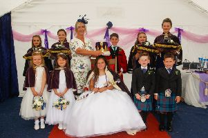 Last year's Kincardine Gala Day Queen Abi Nicol had to get under cover due to rain so it is hoped 2019 Queen Carly Weldon will have better luck with the weather