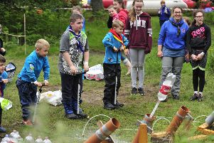 Forth Region Scouts Family Fun Day at Barrwood Campsite near Denny. Pictures by Alan Murray.