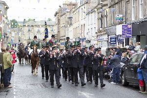 Well wishers aplenty turned out to support the cornet on the final day of the 2019 Hawick Common Riding.